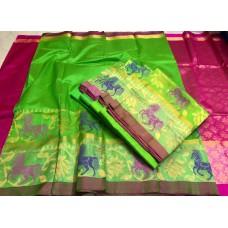 Model's saree